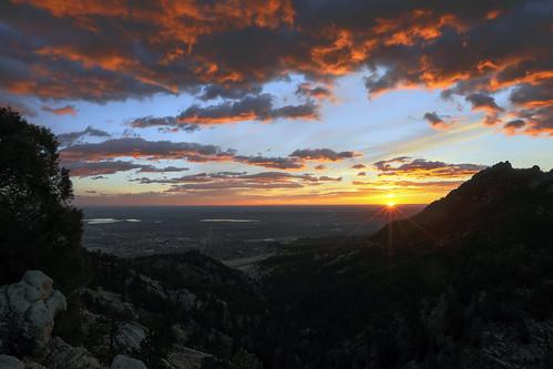dawn sunrise starburst greatplains mountains frontrange flagstaffmountain firstflatiron earthnaturelife wondersofnature landscape