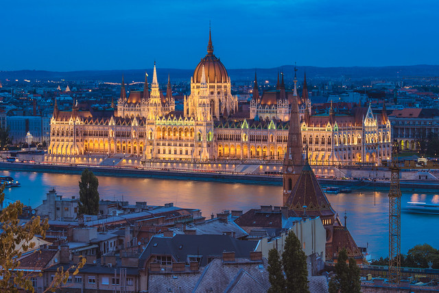 The Parliament at blue hour