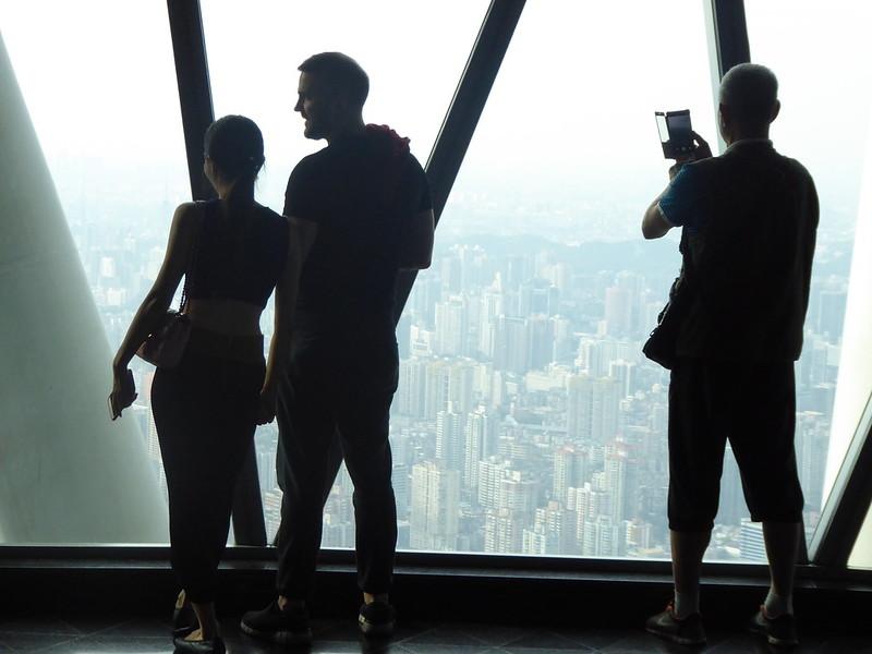 Tourists above Guangzhou