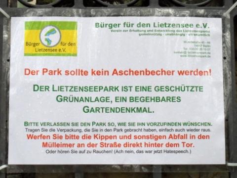 Lietzenseepark im November