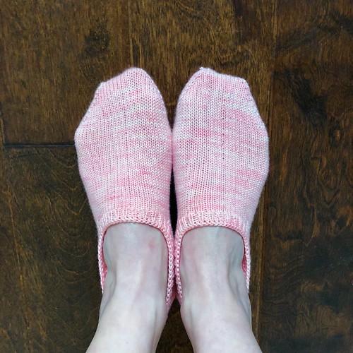 Pink footies