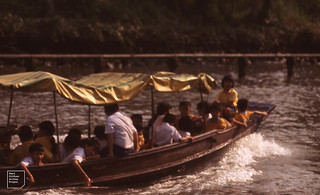 School outing on canal, Bangkok 1989