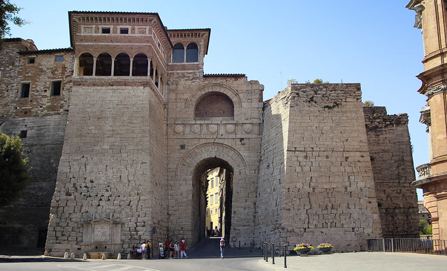 The Etruscan Arch in the wall of Perugia