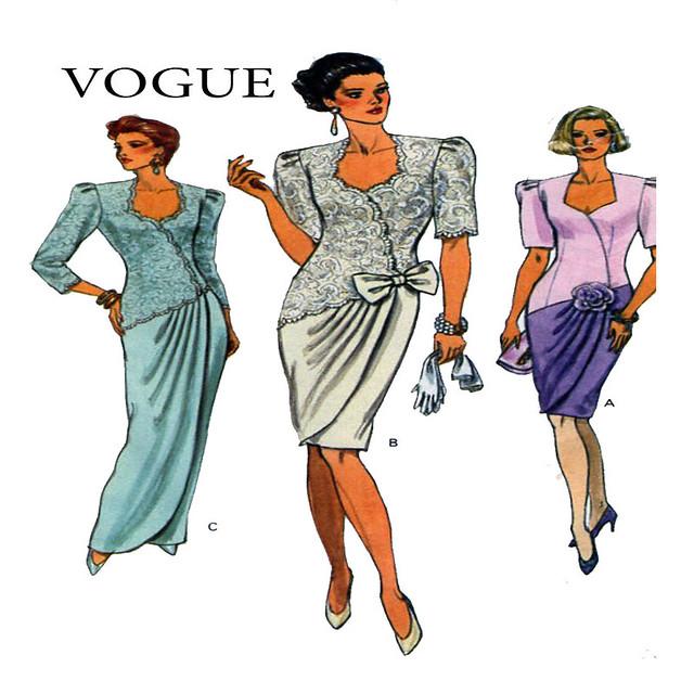 Vogue 8061 gown cocktail dress