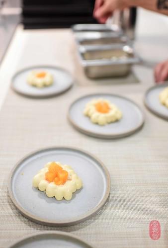 8th Course: Mandarin Almonds
