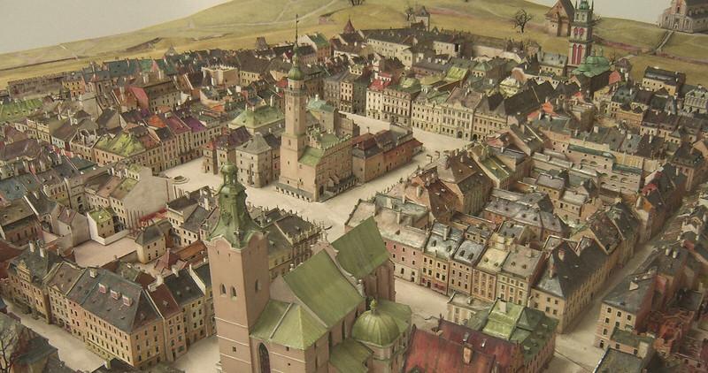 Plastico del centro storico di Lwów