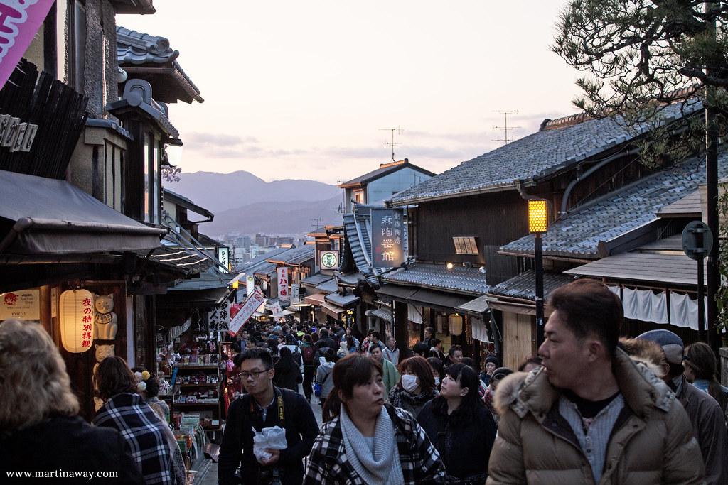 La strada per il Kiyomizu-dera