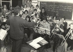 Algy wiith the school band