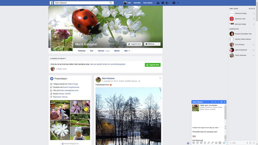 facebook marit gåsland