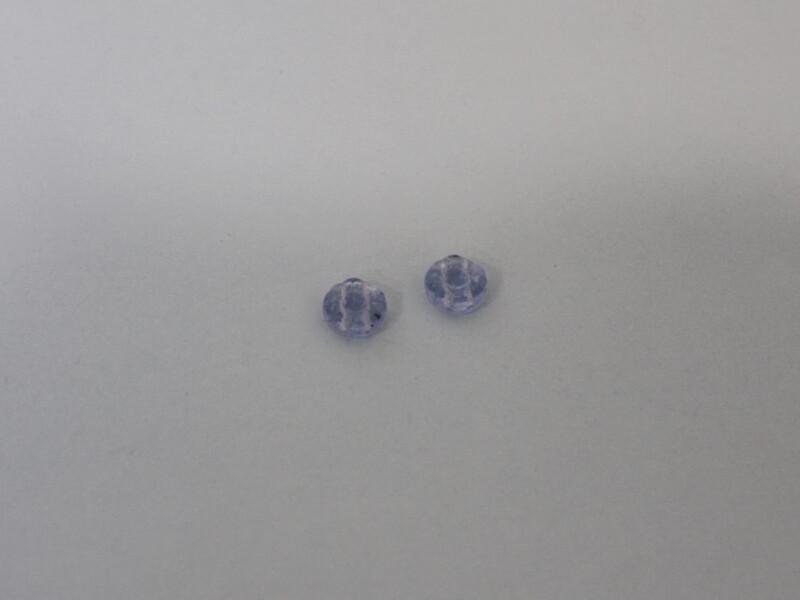2 double hole beads