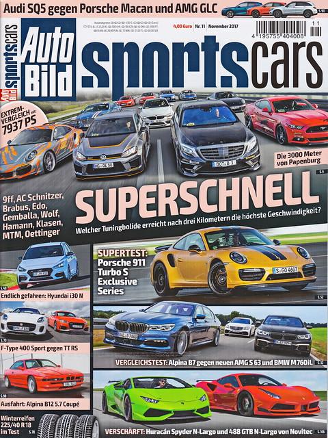 Auto Bild Sportscars 11/2017
