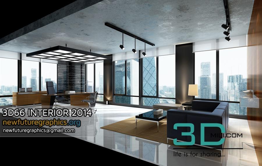 26  3Dsmax Scene Offices Interiors Free Download - 3D Mili