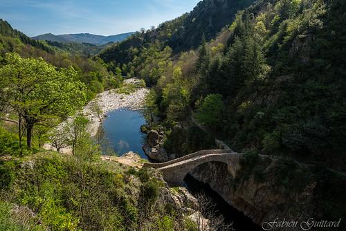 Le Pont du Diable, Thueyts, Ardèche, France