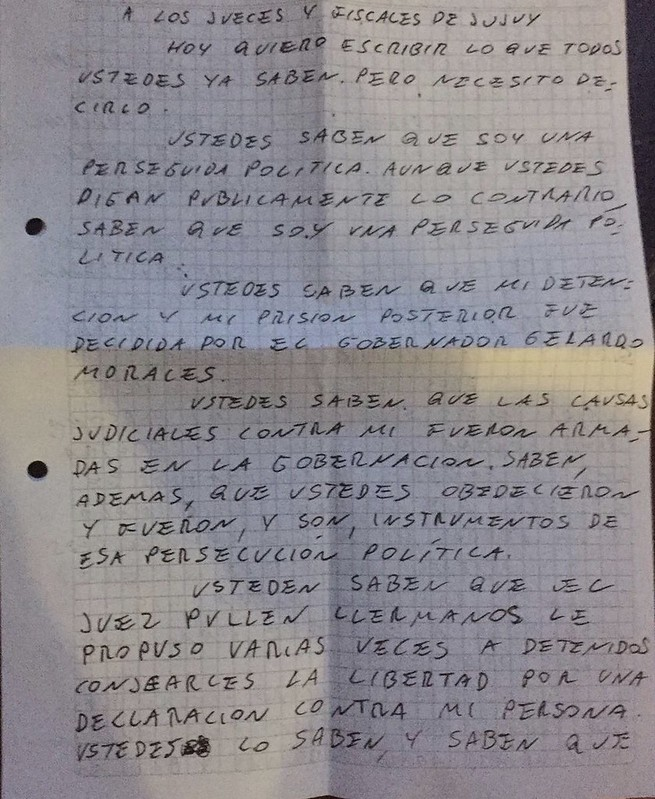 Carta Milagro 1