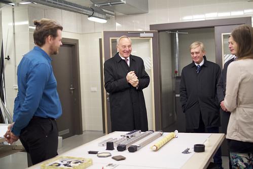 Bijušā prezidenta Andra Bērziņa vizīte Ķīpsalā