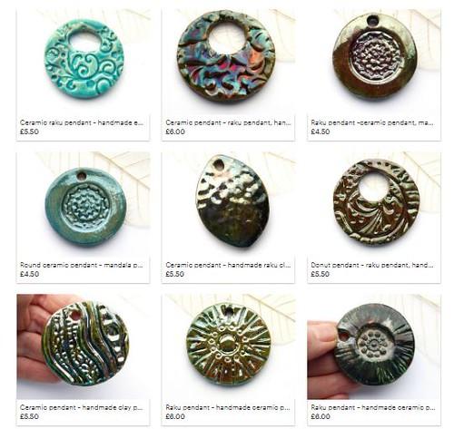 raku pendants