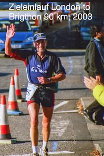 Zieleinlauf London to Brighton über 90 km,  5.10.2003