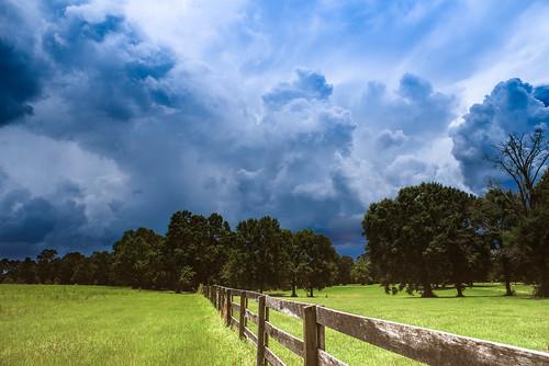 franklinton louisiana rural ruralscenery stormclouds