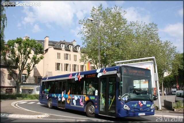 Heuliez Bus GX 327 - SATAR (Société Anonyme des Transports Automobiles Ruthénois)(Ruban Bleu) / Agglobus n°168