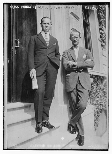 Crown Prince of Greece & Prince Andrew (LOC)