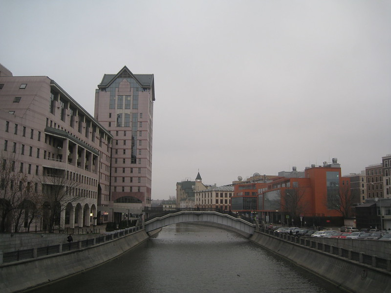in the centre of old city (new buildings)