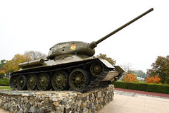 Tank monument in front of the Memorial of Glory, Tiraspol / Transnistria
