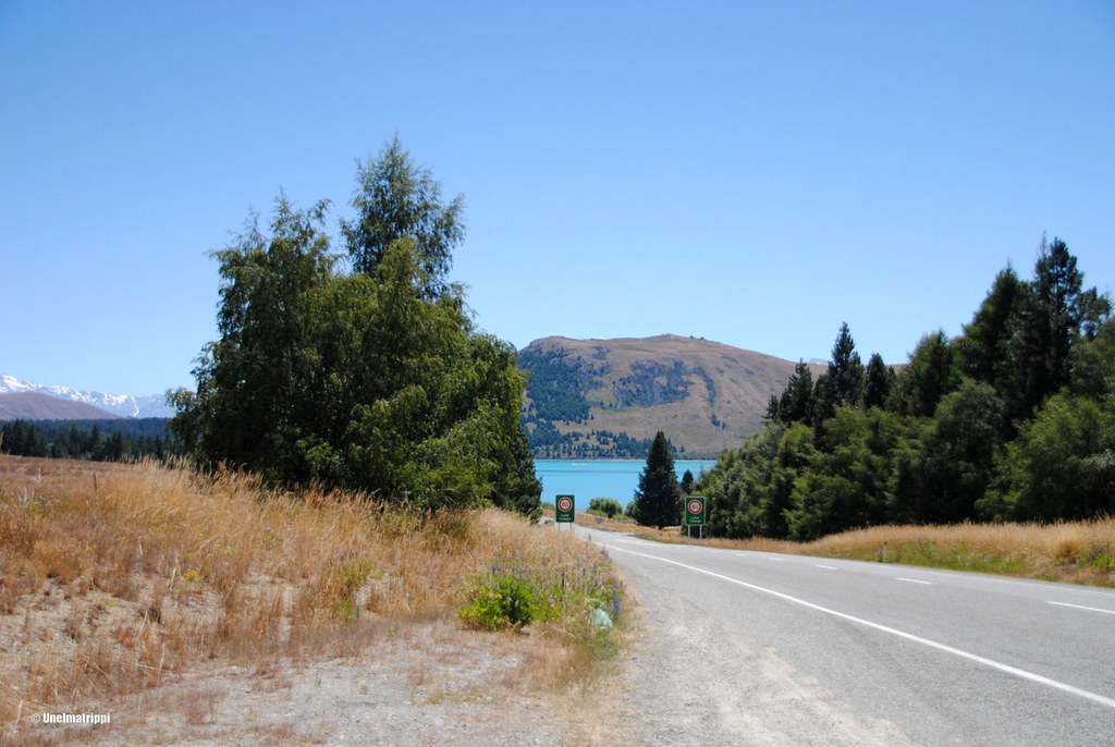 Matkalla Tekapo-järvelle