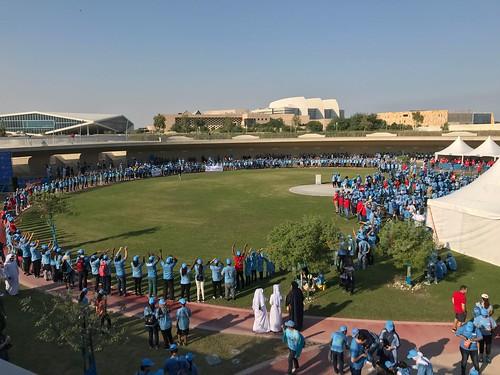 Larget human blue circle