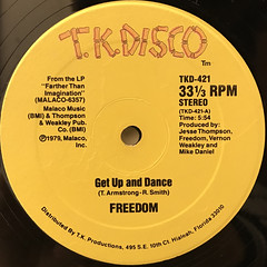 FREEDOM:GET UP AND DANCE(LABEL SIDE-A)