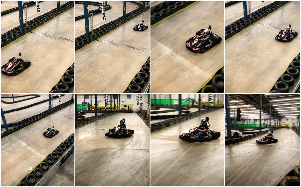 go-karts at the pit