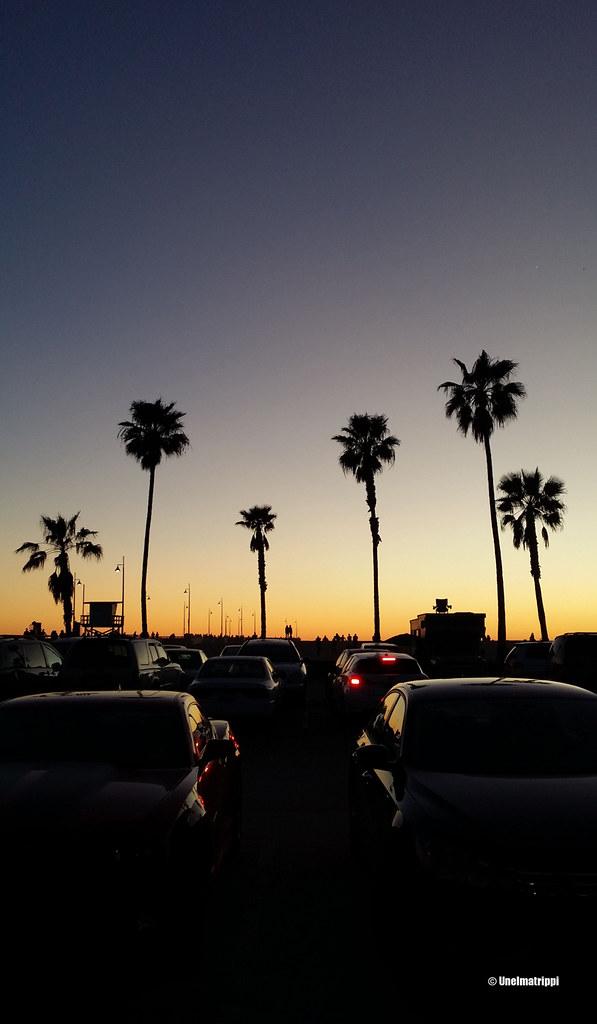 Mieletön auringonlasku, Venice Beach, Los Angeles, Kalifornia, USA