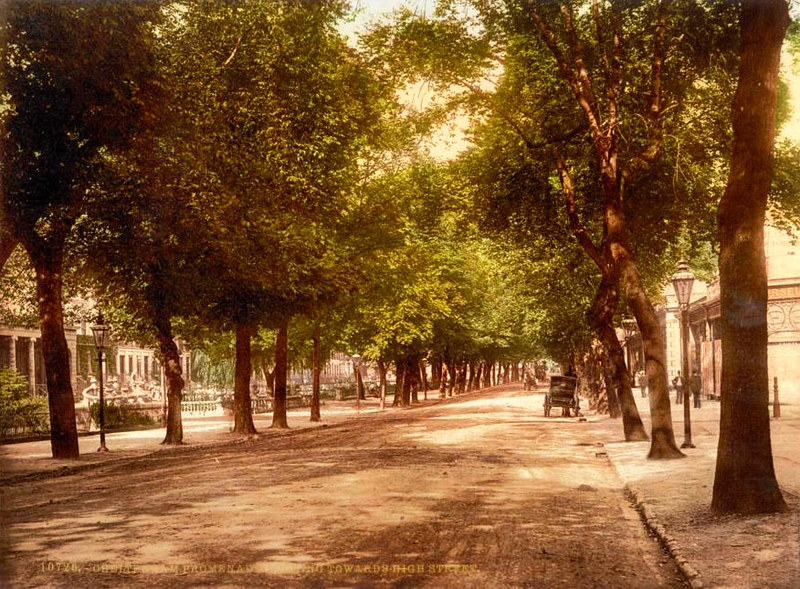 Promenade looking towards Hight Street Cheltenham, c.1895
