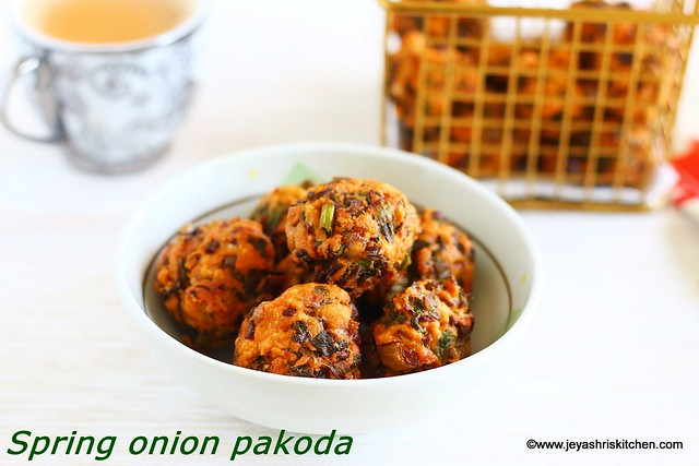 Spring onion-pakoda recipe