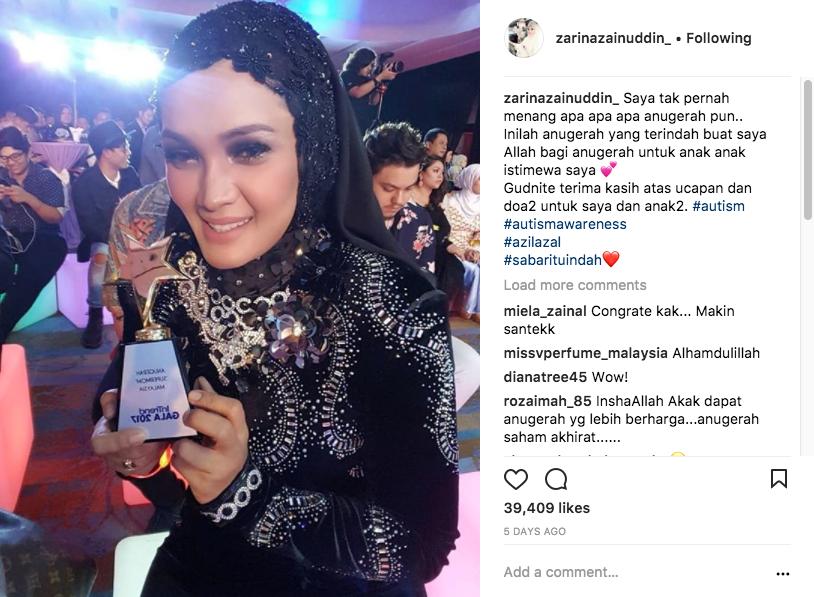 Zarina Zainuddin Terima Anugerah Supermom!