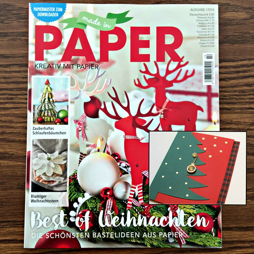 Made in Paper Magazine with Quilled Christmas Card