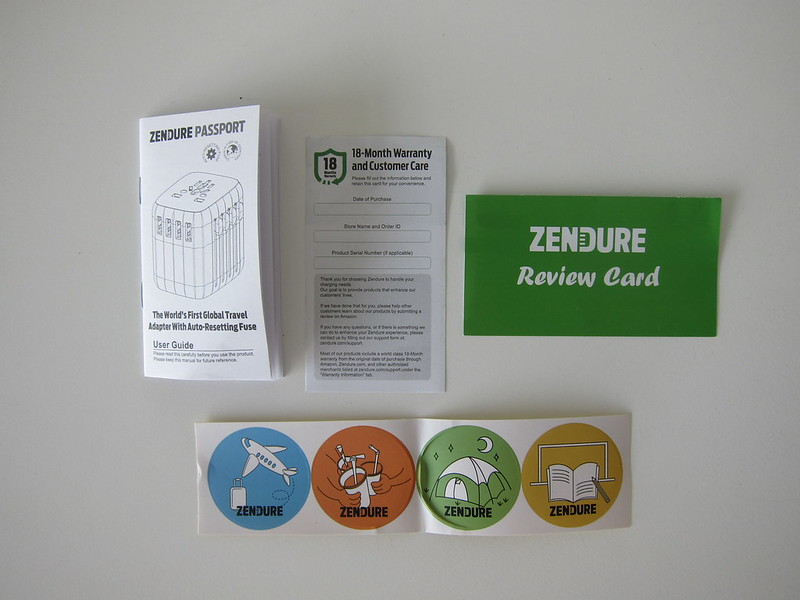 Passport - Manual, Stickers, Warranty Card, Review Card