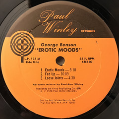 GEORGE BENSON:EROTIC MOODS(LABEL SIDE-A)