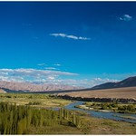5. September 2017 - 17:14 - From Top Of The Phyang Gompa  || Beautiful Indus  River  and Beautiful Blue Sky .........