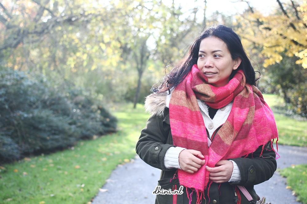 Fashion friday : Sjaal met verhaal (Sjaal Rood Okergeel Oranje)
