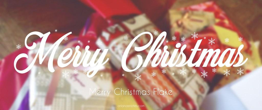 Merry Christmas Flake