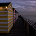 Hastings Beach Huts Sunset