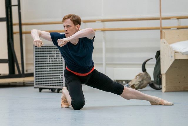 Edward Watson in rehearsal for The Royal Ballet's The Wind © 2017, ROH. Photograph by Tristram Kenton.