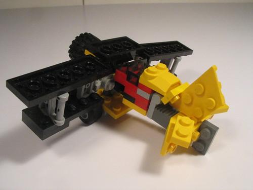 Folding wing bi-plane and transport truck 014