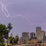 9. Detsember 2017 - 18:24 - Some lightning over the city during this afternoon's storm. Taken from QPAC in Southbank.