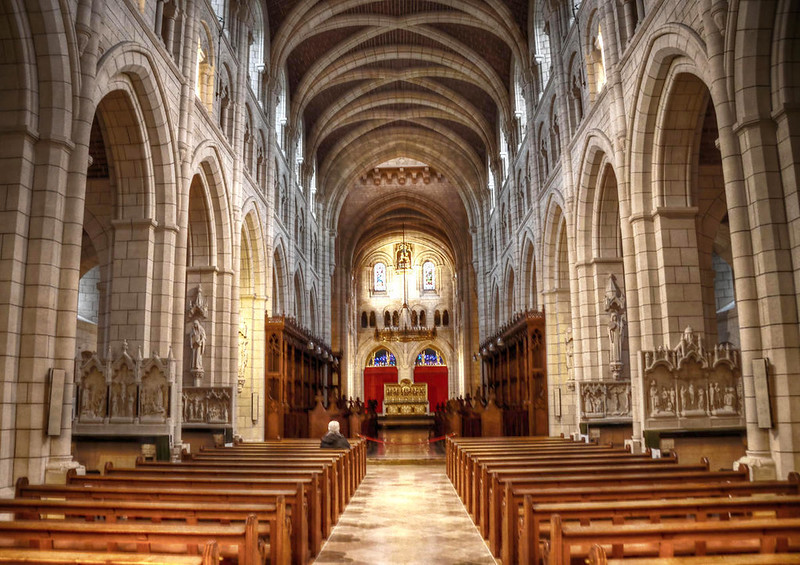 Interior of Buckfast Abbey, Devon. Credit Baz Richardson, flickr