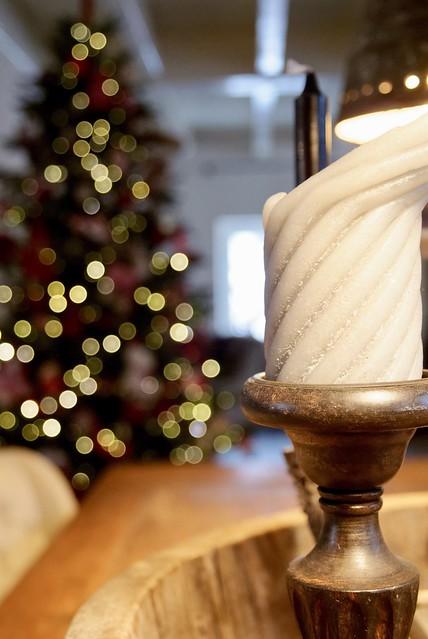 Kandelaar en kerstboom