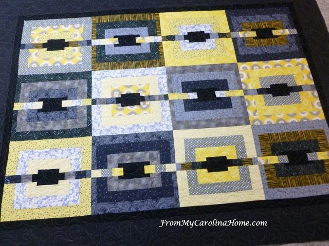 Black and Yellow Quilt at From My Carolina Home