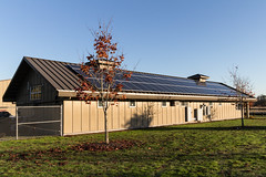 Solar Panels on Roof of North Utility Building at Marymoor Park, Washington State