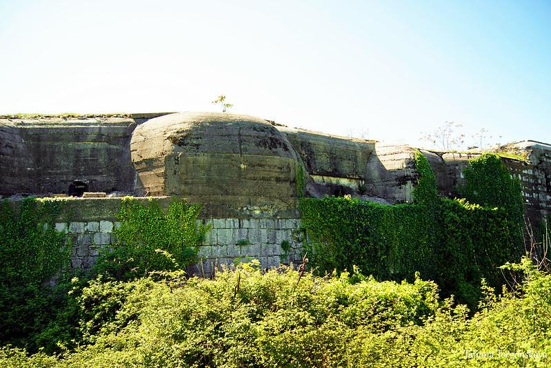 Фрагмент фасада с панцирями гаубичных гнезд