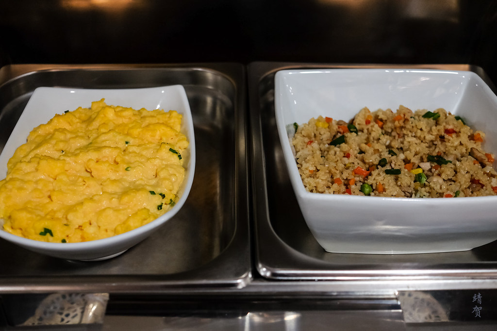 Scrambled egg and fried rice